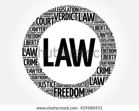 Law Word Cloud Concept Stock Illustration 577905532