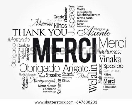 Grazie Thank You Italian Word Cloud Stock Vector 649897504