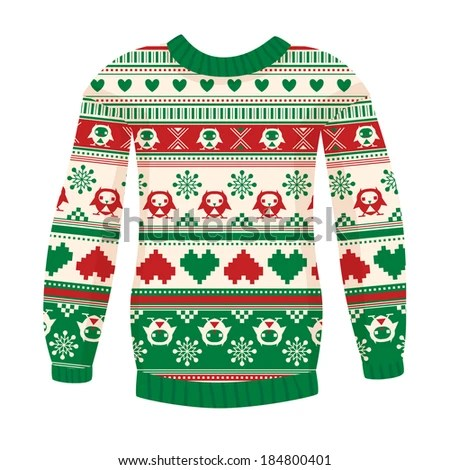 ugly sweater stock royalty-free