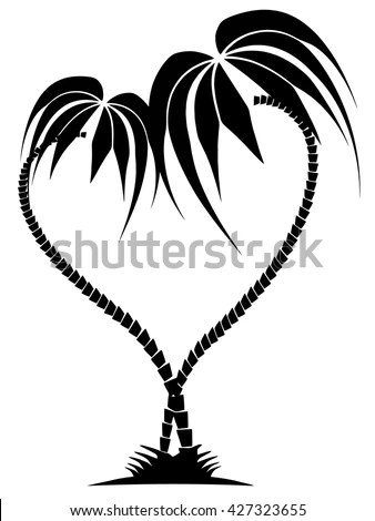 Palm Tree Heart Stock Images, Royalty-Free Images