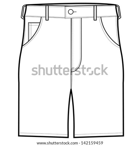 Fashion specification drawing Stock Photos, Images