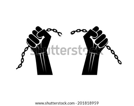Hand Broken Chains Stock Images, Royalty-Free Images
