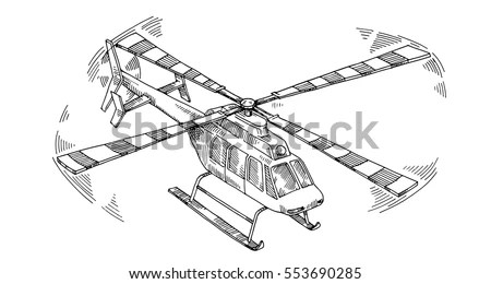 Helicopter Drawing Stock Images, Royalty-Free Images