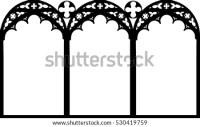 Gothic Rosette Window Pattern Vector Illustration Stock ...