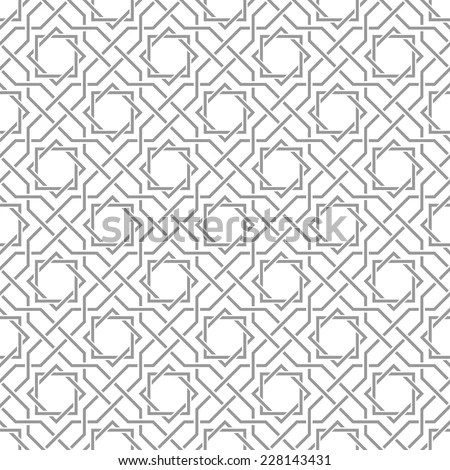 Traditional arabic tangled pattern. Seamless vector