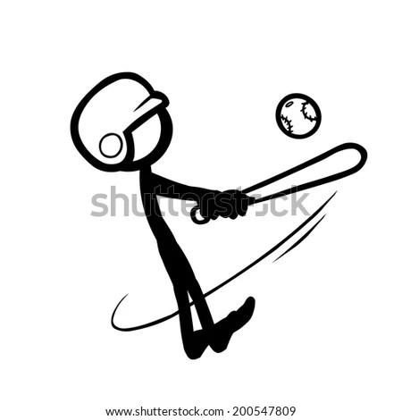 Stick Figure Fishing Caught Stock Vector 565765936