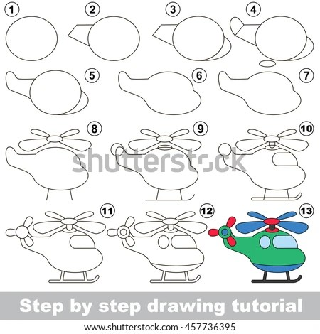 Helicopter Drawing Stock Photos, Royalty-Free Images