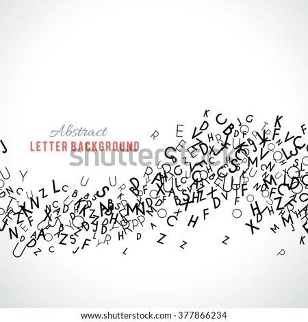 Abstract Black Alphabet Ornament Border Isolated Stock