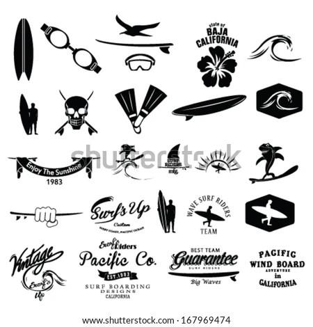 Surfer Vector Set Stock Vector (Royalty Free) 167969474