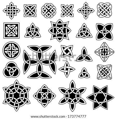 24 Celtic Knots Triquetra Trinity Knot Stock Vector