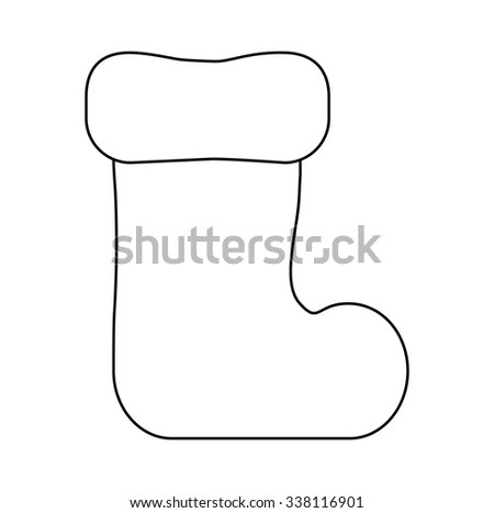 Stocking Outlines Cartoon Stock Images, Royalty-Free