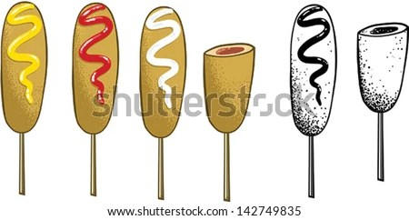 corn dog stock royalty-free