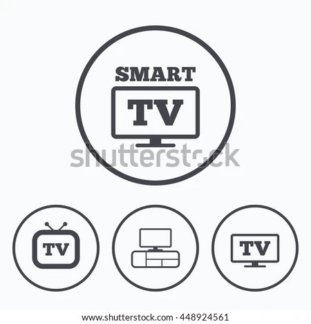 Smart Tv Mode Icon Widescreen Symbol Stock Vector
