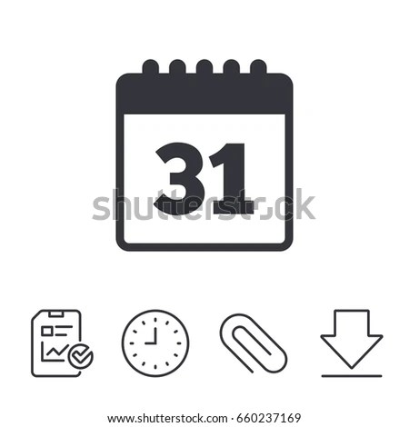 Calendar Sign Icon Date Event Reminder Stock Vector