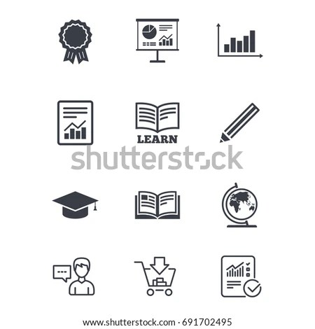 Storytelling Icon Set Speech Bubbles Books Stock Vector