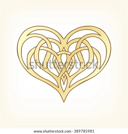 Embroidery Embroidered Design Elements Love Heart Stock