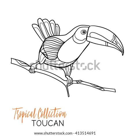 Bird Outline Drawing Stock Images, Royalty-Free Images