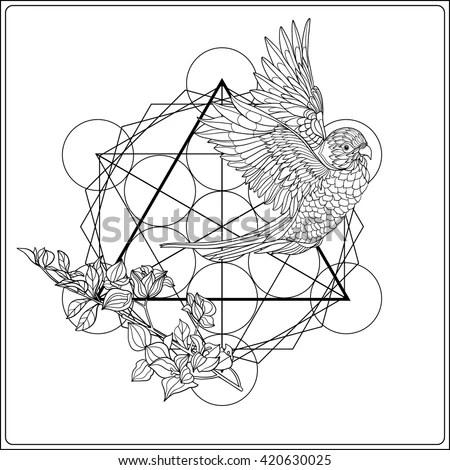 Abstract Techno Pattern Unicorn Geometric Elements Stock