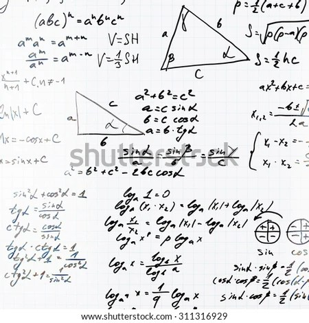 Vector Illustration Mathematics Doodle Isolated On Stock