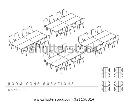 Meeting Room Setup Layout Configuration Banquet Stock