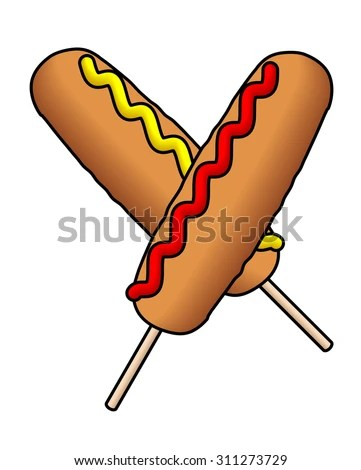 corndog stock vectors &