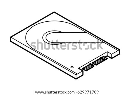 Exploded View Hard Disk Drive Hdd Stock Vector 98487260