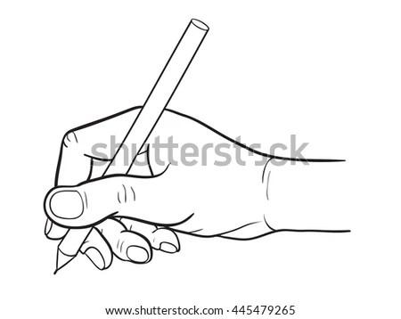 Hand Drawing Ashtray Nicotine Smoke Stock Vector 224341951