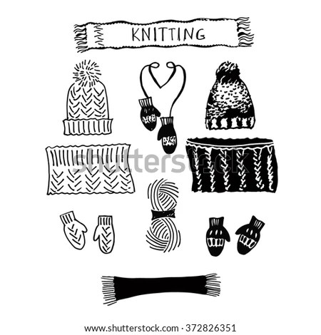 Laser Cut Template Mittens Silhouette Cutting Stock Vector