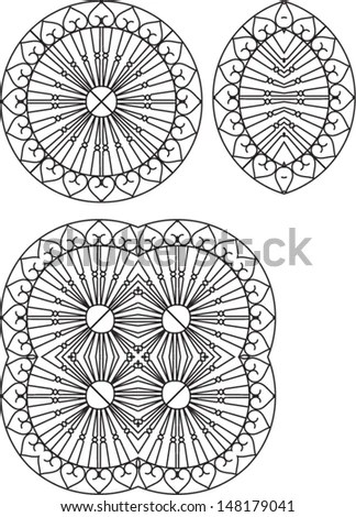 Wrought Iron Fire Place Grill Design Stock Vector 70854952