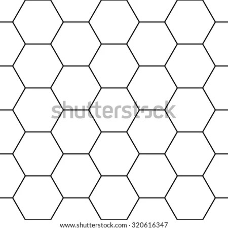Vector Modern Seamless Geometry Pattern Hexagon Stock