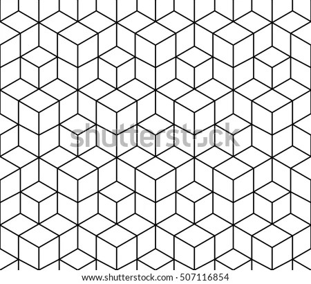 Abstract Geometric Black White Graphic Design Stock Vector