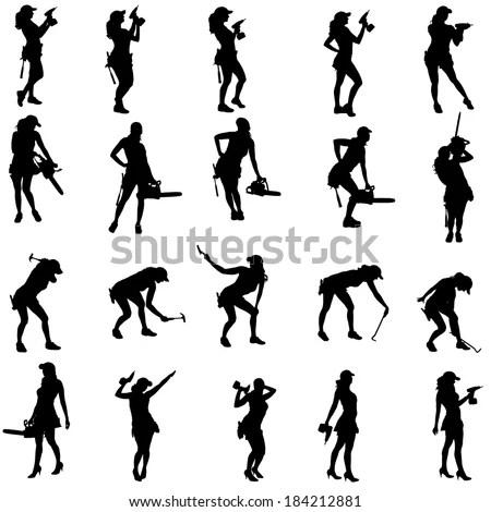 Greek Silhouettes Dancing Couple Slaves Huge Stock Vector