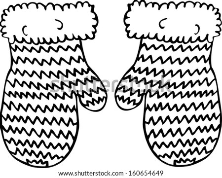 Knitted Mittens Stock Images, Royalty-Free Images