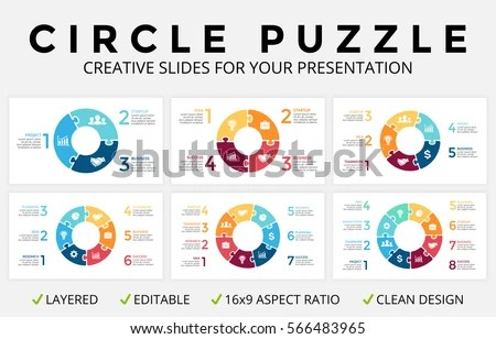 3 arrow circle diagram rotork wiring a range vector illustration in rank m arrows infographics cycle puzzle jigsaw graph 16x9 slide presentation pie