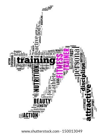 personal trainer info-text graphics and arrangement