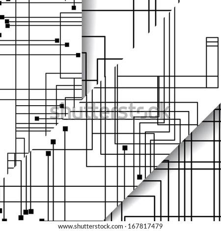 Circuit Board Illustration Digital Composition Stock