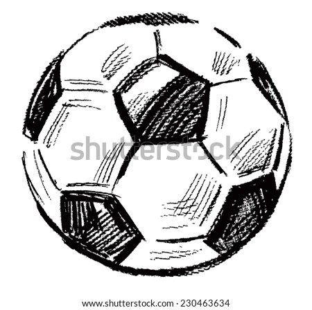 Vector Black Soccer Ball Icon On Stock Vector 230463634