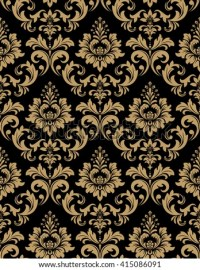 Golden Floral Wallpaper Old Style Retro Stock Vector ...