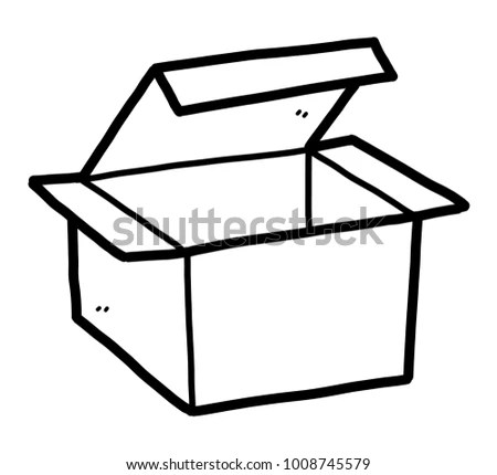 Hand Box Cardboard Drawing Open Stock Images, Royalty-Free
