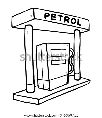 Gas Station Floor Plan Design Sketch Coloring Page
