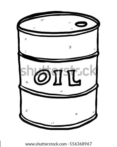 Oil Barrel Cartoon Vector Illustration Black Stock Vector