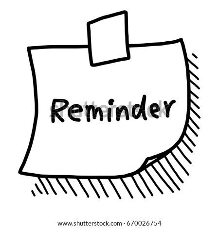 reminder note paper cartoon vector