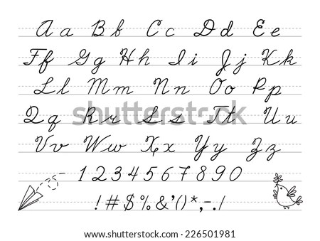 Cursive Writing Stock Images, Royalty-Free Images