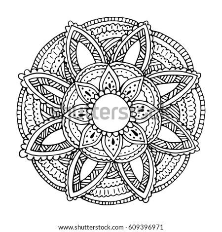 Mandala Flower Stock snímky, snímky pro členy zdarma a