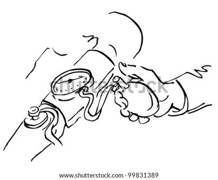 Cartoon Stinky Dead Rat Line Art Stock Vector 611636384