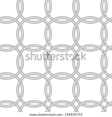 Seamless Rope Knot Pattern Stock Vector 129921107