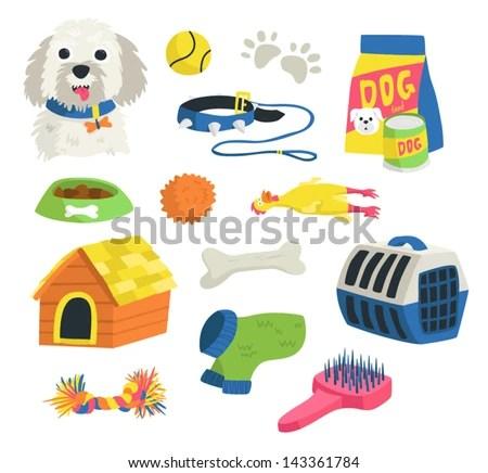 Dog Stuff Stock Vector (Royalty Free) 143361784