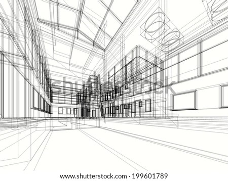 Abstract 3d Vector Construction Office Building Stock