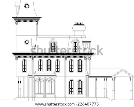 Black Arch Silhouette Vector Illustration Stock Vector