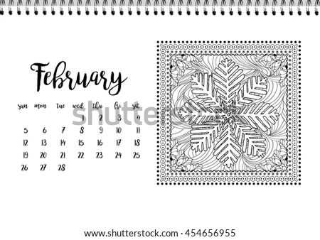 February Calendar Stock Images, Royalty-Free Images
